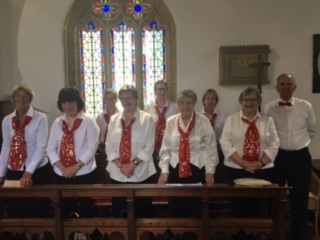Mid Wessex Singers sing at a wedding in St Mary Major Church